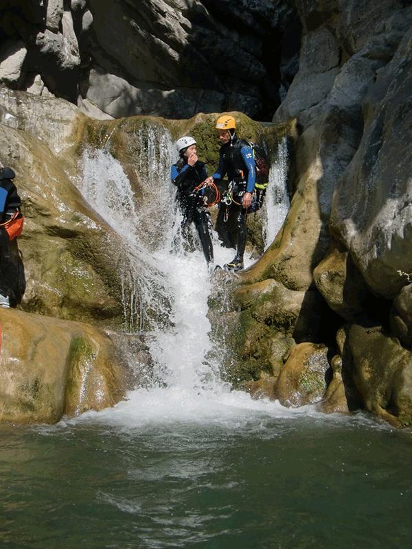 Des participants du canyon de Cramassouri.