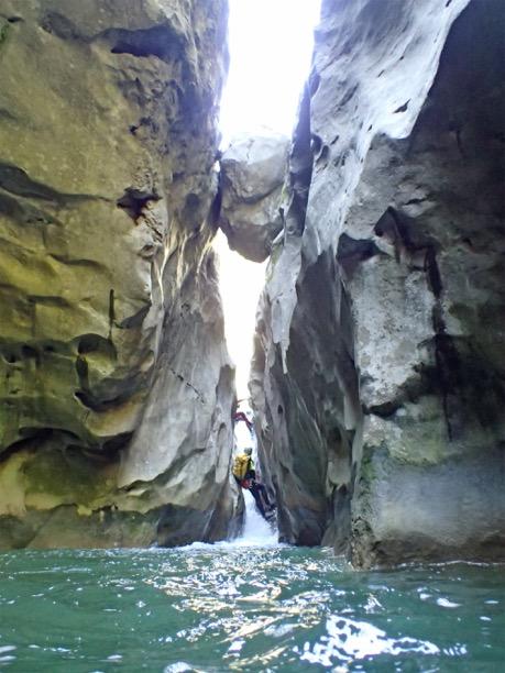 Des participants au canyoning du Riolan.