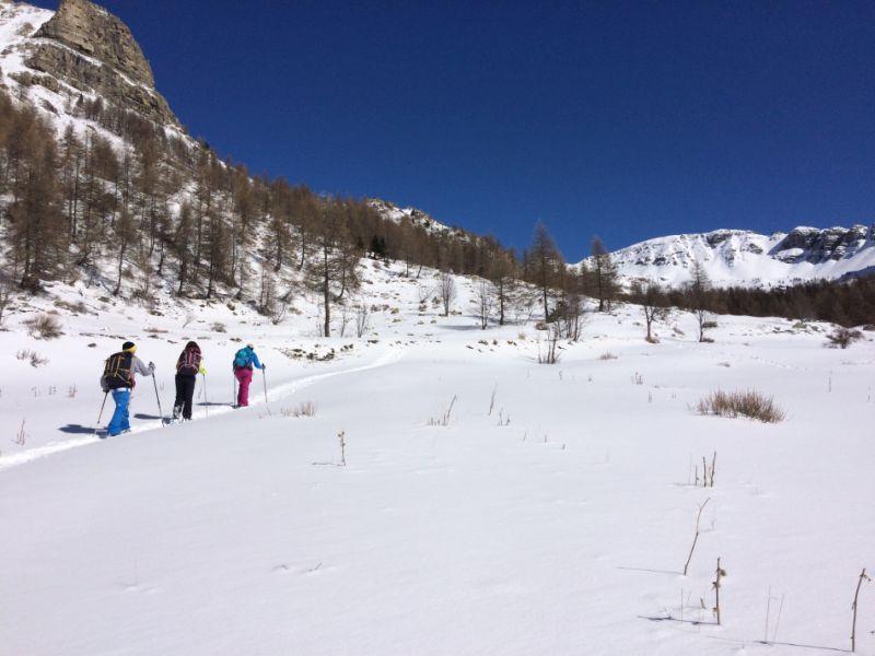 Randonnée en raquettes à neige dans les Alpes-Maritimes