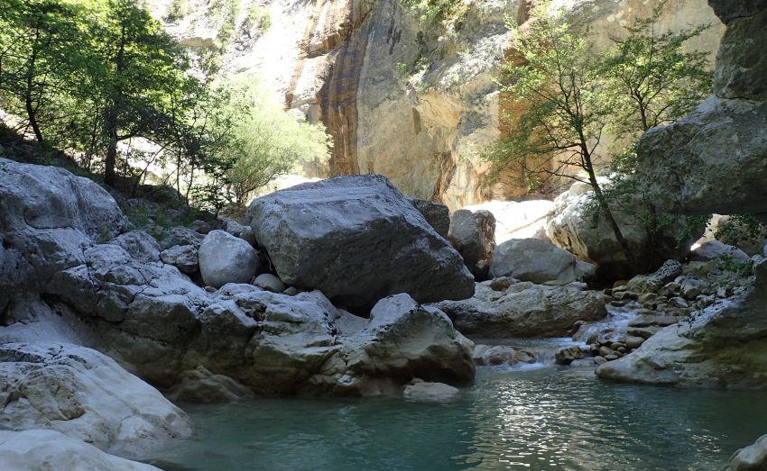 Canyon du Riolan près de Nice.