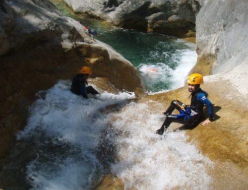 Les enfants et le canyoning