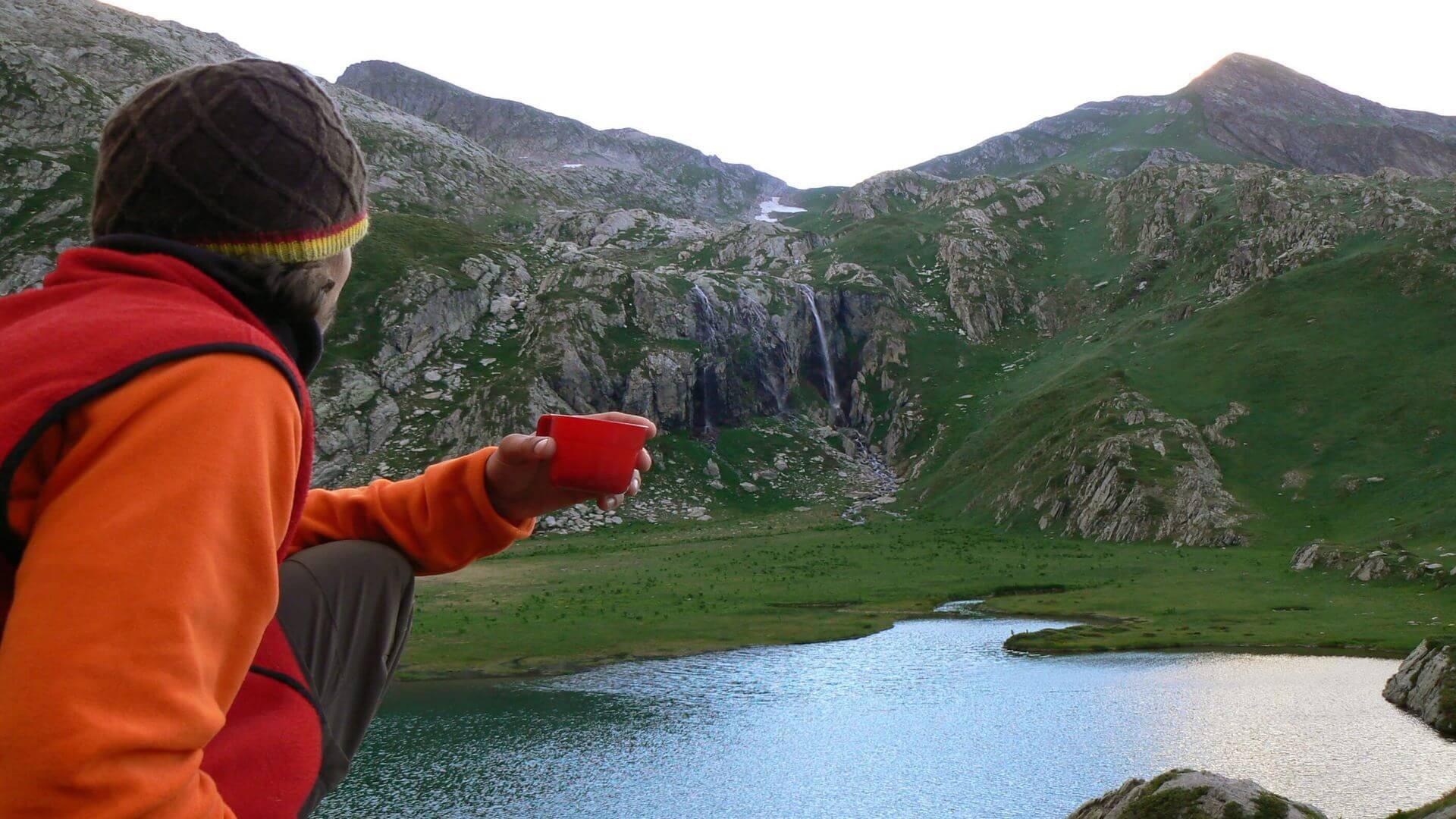 Randonnée avec guide dans les Alpes.