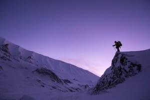 Randonnée hivernale à l'aube
